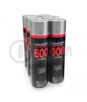 6 x Molotow Burner Chrome 600ml