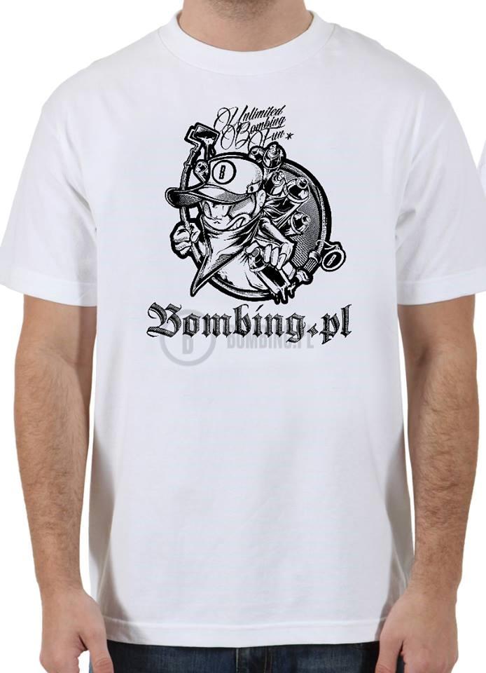 Bombing.pl T-shirt White rozm L