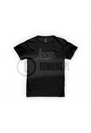 Koszulka logo LOOP czarna.
