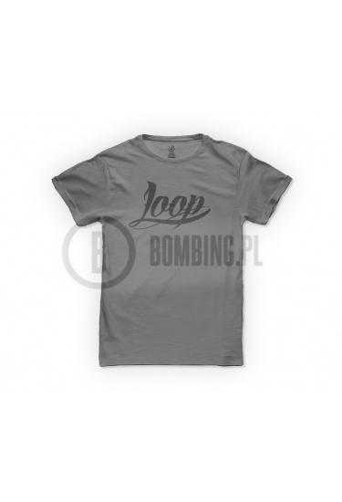 Koszulka logo LOOP szara.