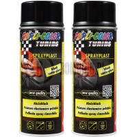 SPRAYPLAST BLACK SEMI GLOSS 400ml