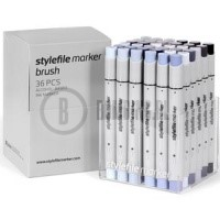 Stylefile Marker Brush 36 pcs set Grey