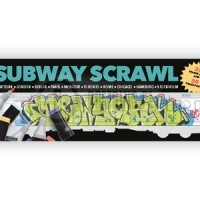 Subway Scrawl colouring book