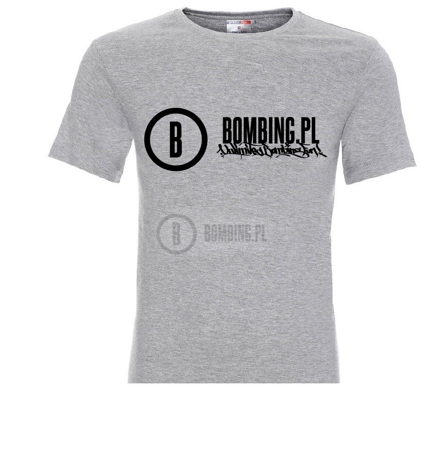 T-shirt BOMBING.PL rozm M grey