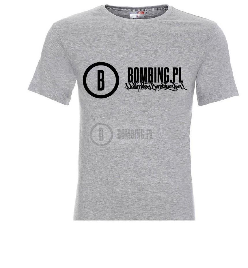 T-shirt BOMBING.PL rozm M grey