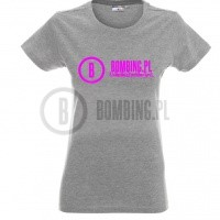 T-shirt LADY BOMBING.PL rozm S grey