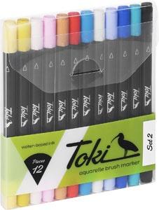 toki aquarelle brush marker 12er set set 2